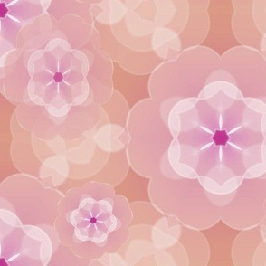 Peaches and Lilac Floral