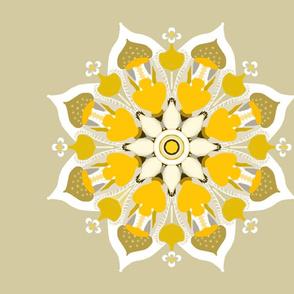 mandala pillow golden lotus