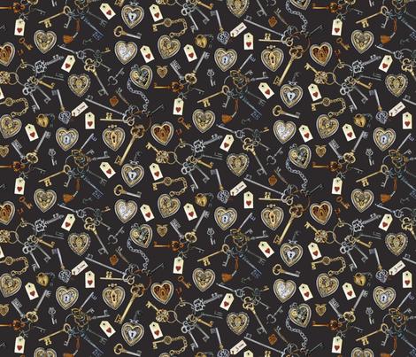 Steampunk Matchmaker Dark Grey fabric by stitchyrichie on Spoonflower - custom fabric
