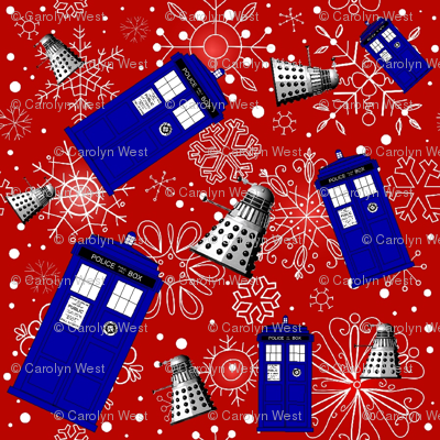 Police Box Attack_Red  Snowflake med