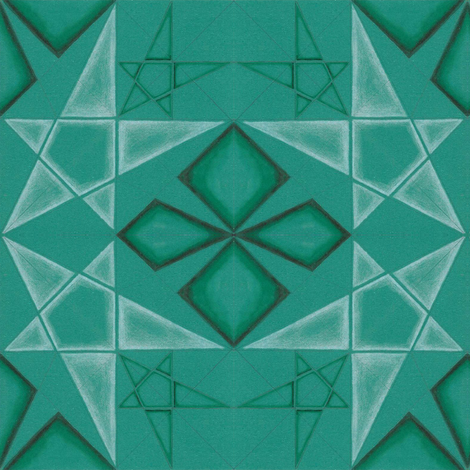 Queen of Pentacles fabric by gretchendiehl on Spoonflower - custom fabric