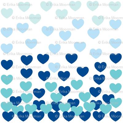 Heart Drops-blue-MEdium