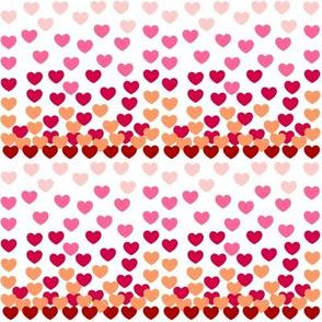 Heart Drops - pink MEdium