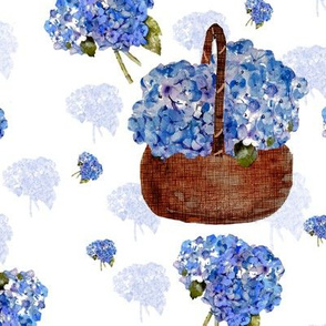 hydrangea bouquets and basket
