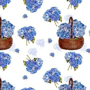 whispers of hydrangea bouquets and basket