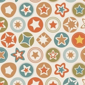Retro Stars Pattern
