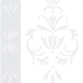 Foggy Banded Damask- grey