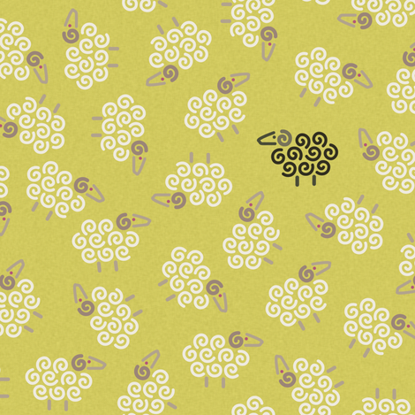 OneBlackSheep fabric by melhales on Spoonflower - custom fabric