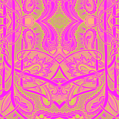 Screaming Psychedelic Bonkers fabric by edsel2084 on Spoonflower - custom fabric