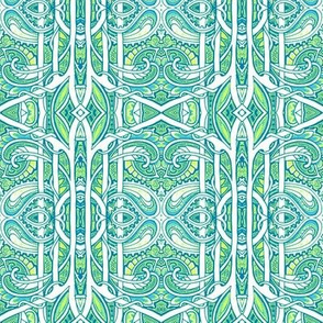 Totally Teal and Green