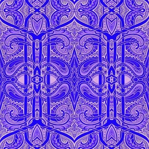 Boldly Purple Paisley Worlds