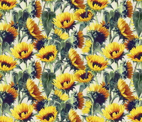 Sunflowers Forever fabric by micklyn on Spoonflower - custom fabric