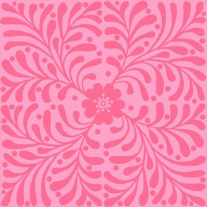 Floral Pink Quilt
