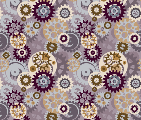 Steampunk Gears fabric by creativebrenda on Spoonflower - custom fabric