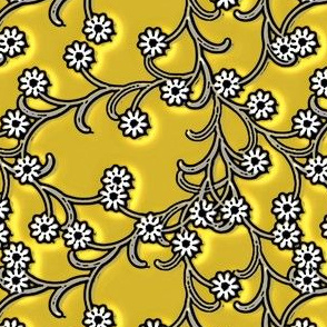Folk Floral yellow