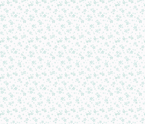 scattered water color flowers in aqua fabric by bottle_branch on Spoonflower - custom fabric