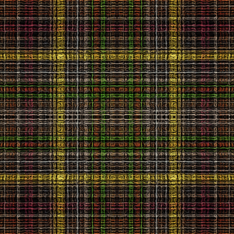 Spotted Spoons Plaid fabric by anniedeb on Spoonflower - custom fabric