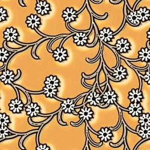 Folk Floral in Copper