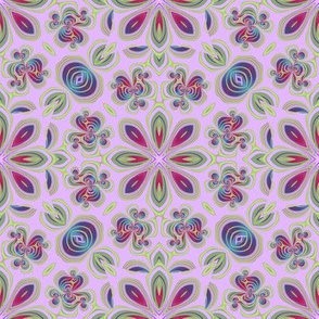 Tole Flowers, Pink (Lavender)