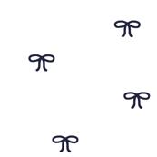 Navy Bows on White Background