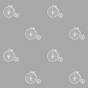 Penny farthing (gray)