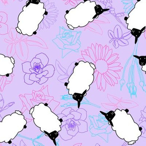 Floral Sheep II