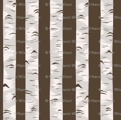 Forest of the Fox Coordinate- Birch Forest in Brown