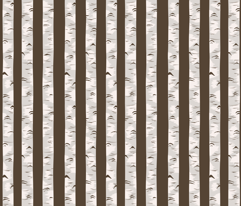 Forest of the Fox Coordinate- Birch Forest in Brown fabric by bella_modiste on Spoonflower - custom fabric