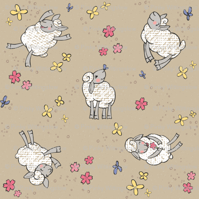 Ditsy Springy Sheep
