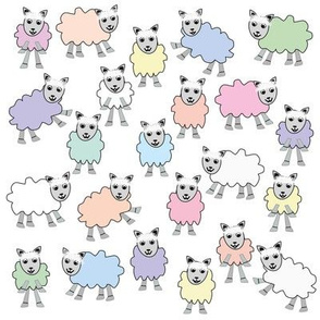 Pastel_Colourful_Sheep_on_white_background