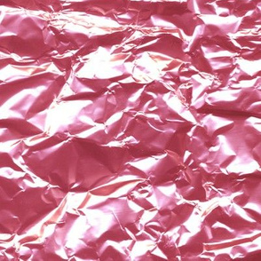 pink foil candy wrapper