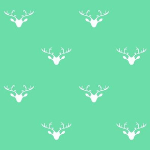 Deer heads (mint)