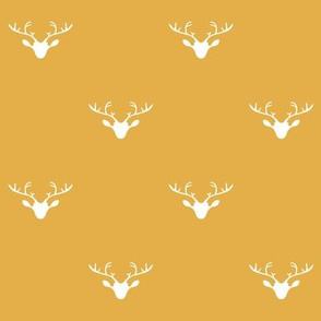 Deer heads (gold)