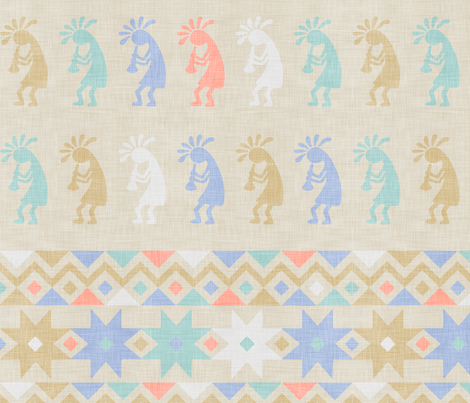 Kokopelli Nursery fabric by dinorahaleatelier on Spoonflower - custom fabric