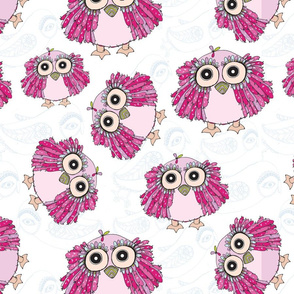 Pink Baby Owl