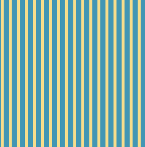 Baby Fish yellow blue stripe fabric - space_tempo_design - Spoonflower