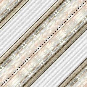 Southwest Tumbleweed bias stripes