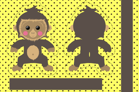 Little Monkey fabric by un_temps_de_coton on Spoonflower - custom fabric