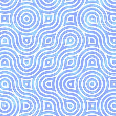 Modern Vertigo in blue fabric by joanmclemore on Spoonflower - custom fabric