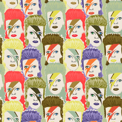 Glam Rock # 4 pastel fabric by susiprint on Spoonflower - custom fabric