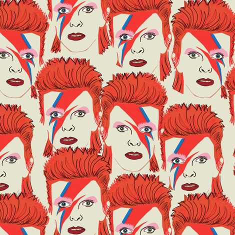 Glam rock creme #2 small size  fabric by susiprint on Spoonflower - custom fabric