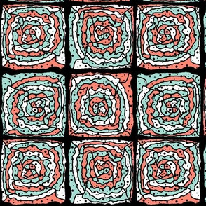 RETRO HYPNOTIC PAVEMENT MINT CORAL