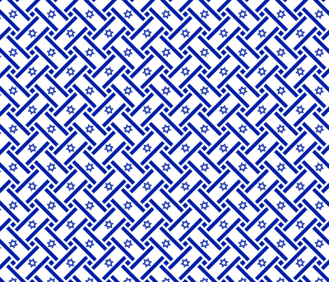 Israel Flag Weave fabric by anneostroff on Spoonflower - custom fabric