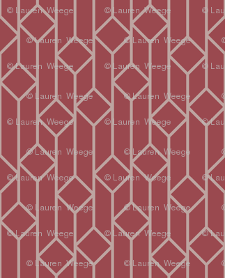 Marsala Diamonds Pattern