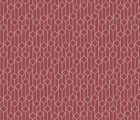 Marsala Diamonds Pattern fabric by laurenmary on Spoonflower - custom fabric