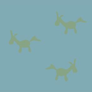 Minima Design Horses Green on Blue