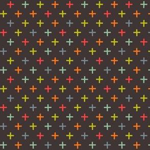 crosses on brown