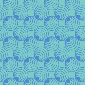 Mint Circles Pattern
