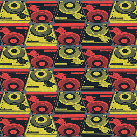 Turntables African Glam fabric by susiprint on Spoonflower - custom fabric