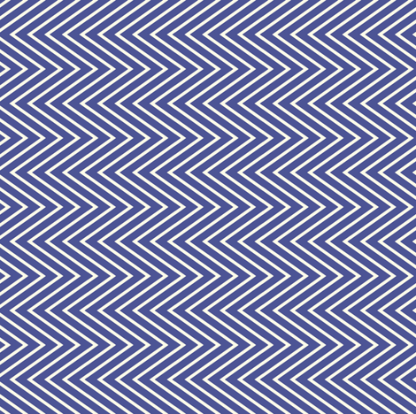 Zig zag african blue/white fabric by susiprint on Spoonflower - custom fabric